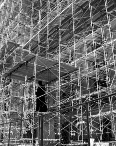 "flikr photo ""Scaffolding"" by Kevin Dooley shared under a CC BY 2.0 license"