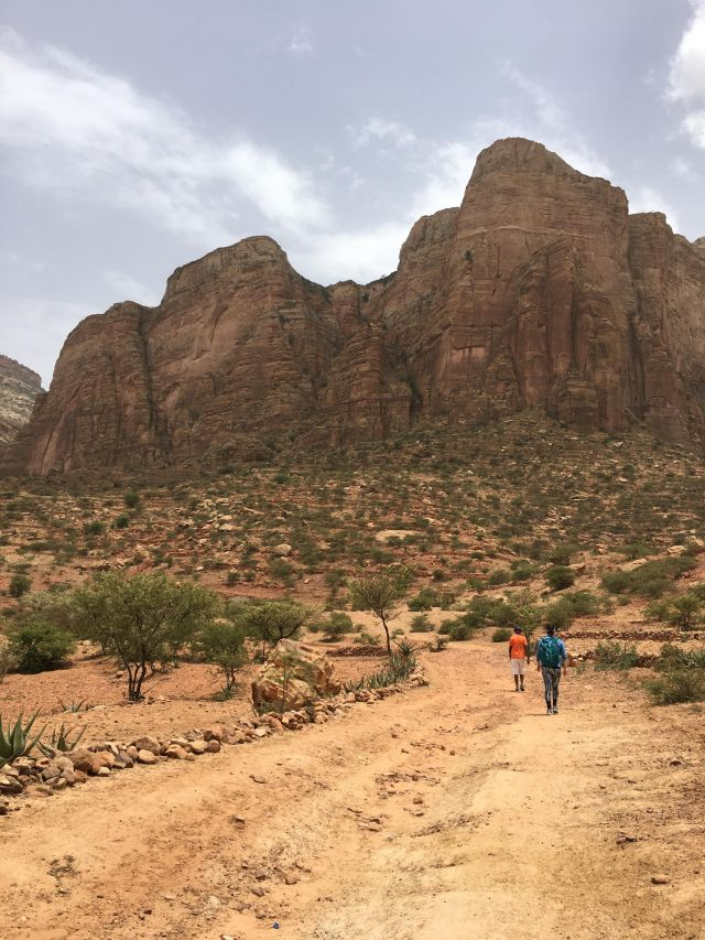 At the start of a weekend hike to visit some of the rock-hewn churches in the region of Tigray. There are over 100 churches carved from the rock in the cliffs in this region that date from around the 10th-15th centuries. ​