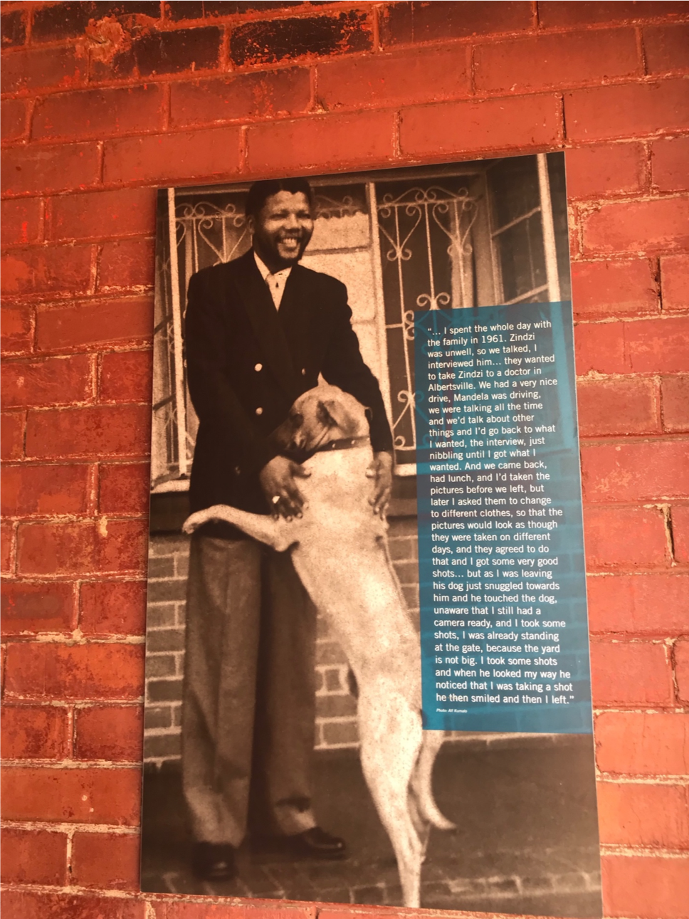 A photo in Nelson Mandela's house
