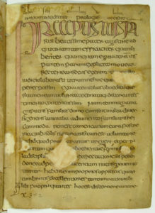 The so-called Bobbio Orosius, seventh century, in insular (Irish) script. Likely written at Bobbio. Milan, Biblioteca Ambrosiana, D. 23. sup.