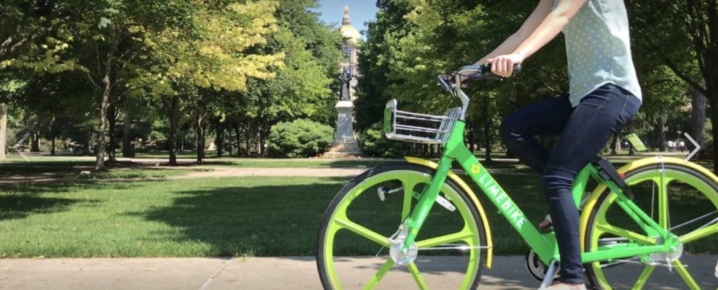 LimeBikes at Notre Dame