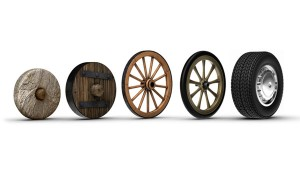 The evolution of the wheel (Photo credit:  geniusstuff.com)