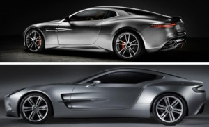 Fisker Thunderbolt (top) and Aston Martin One-77 (Bottom) (Photo courtesy of Car and Driver)