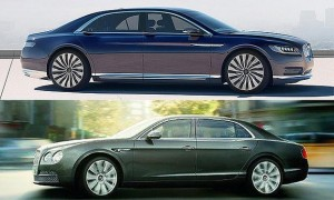 Lincoln Continental Concept (Top) and Bentley Flying Spur (Bottom) (Photo courtesy of Autonews)