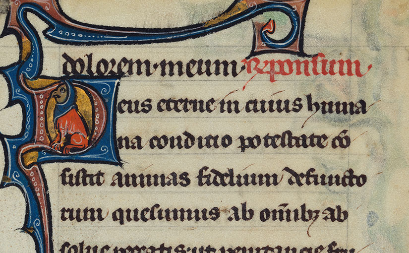 Recent Acquisition: Leaf from a 13th-century illuminated Flemish Psalter-Hours