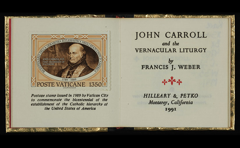 Recent Acquisition: Mini Book about John Carroll
