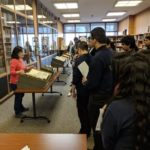 Pritzker students in Notre Dame Special Collections