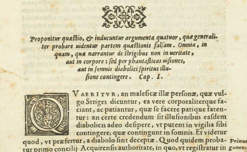 Recent Acquisition: Spina's 16th-century tracts on witchcraft