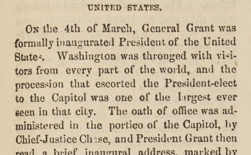 """Washington was thronged with visitors from every part of the world…"""