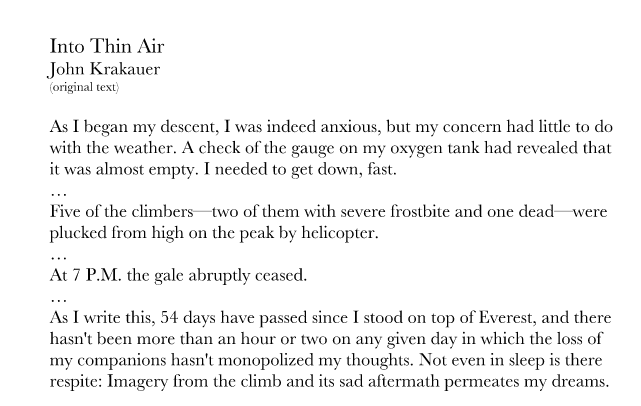 into thin air leadership lessons Jon krakauer's into thin air notes, test prep materials, and homework help easily access essays and lesson plans from other students and teachers.