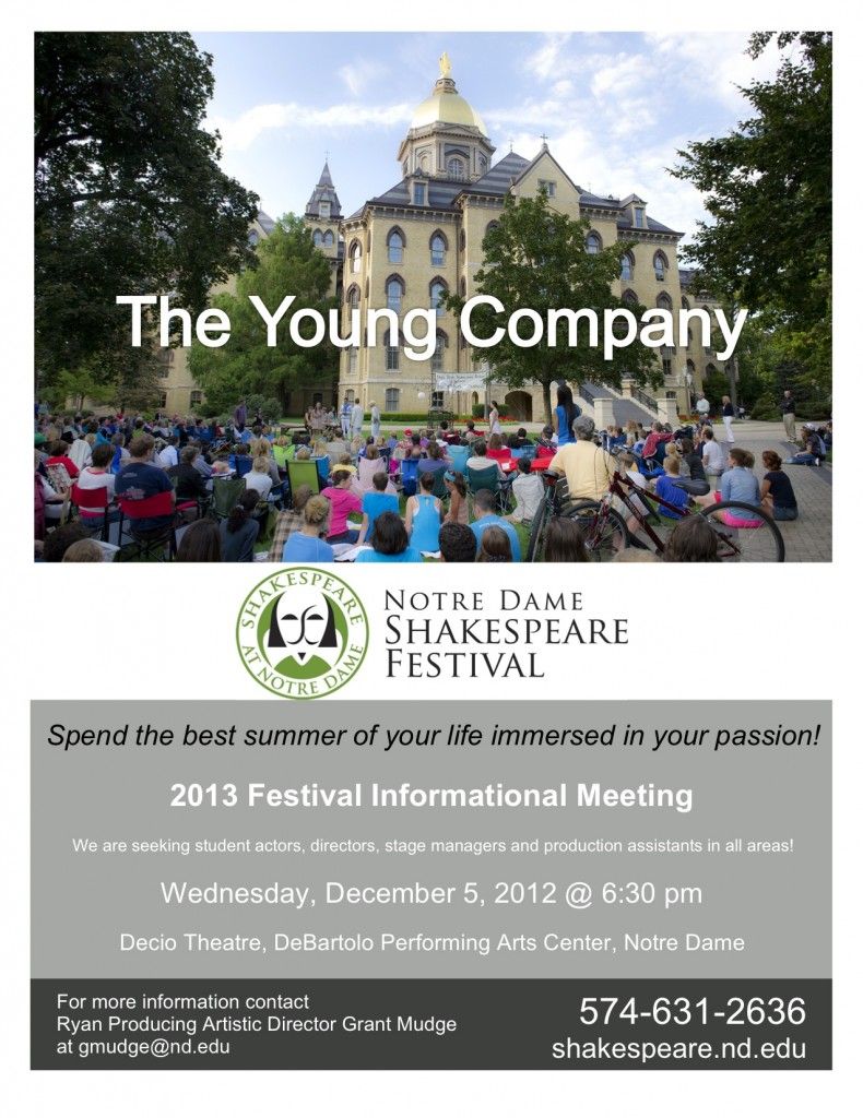 2013 Young Company Informational Meeting Flyer