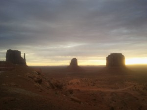 1.'But look, the morn in russet mantle clad  Walks o'er the dew of yon high eastward hill' (Horatio - Monument Valley, Utah)