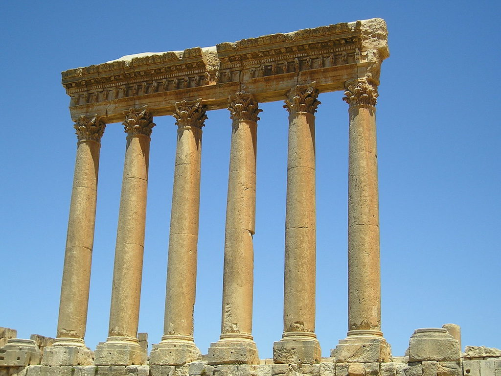 Temple of Jupiter in Baalbek, Lebanon by Heretiq (Wikimedia)