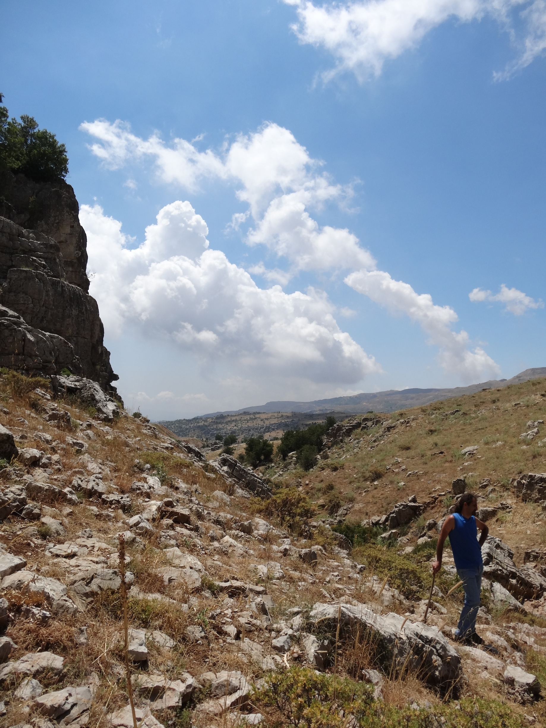 The rocky terrain of Tarshish