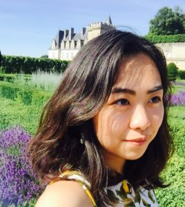 A profile of me in front of Chateau Villandry in Tours, France.