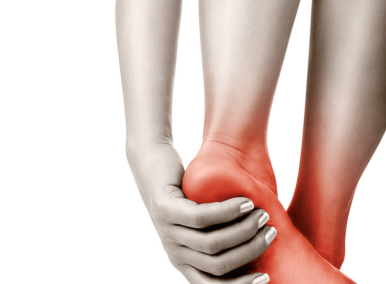 Image showing a person with heel pain