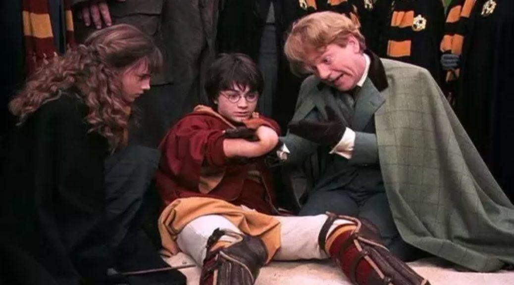 Harry Potter watching his boneless arm bend backwards
