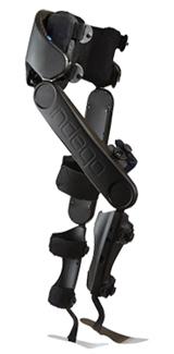 Photo of the Indego powered exoskeleton
