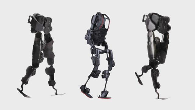 Photo of various exoskeleton models