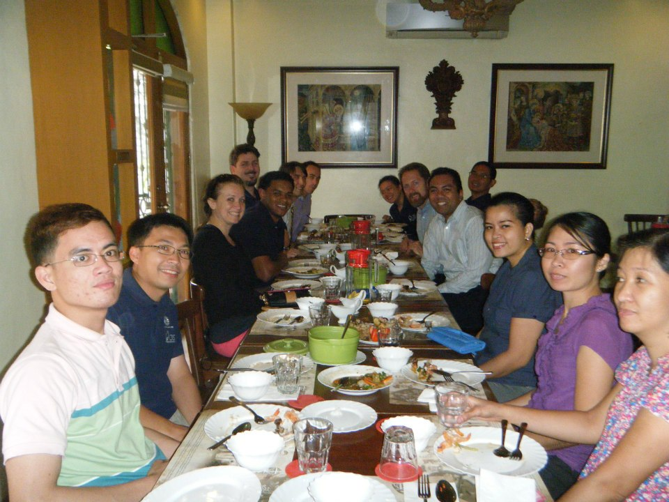 Day 1 lunch with CRS Manila staff