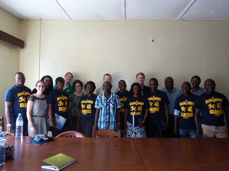 Team Sierra Leone with Quality Circles staff in Kenema.