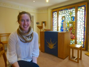 Emma Fleming  in the O'Connell House Chapel in Dublin.