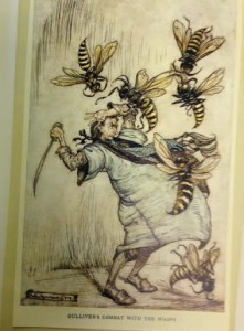 Plate from Gulliver's Travels illustrated by Arthur Rackham.