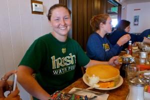 Margie's Pancake Challenge Participant #1: sophomore, Danielle Butler