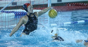 Colleen Fricke scores goal against SDSU goalie
