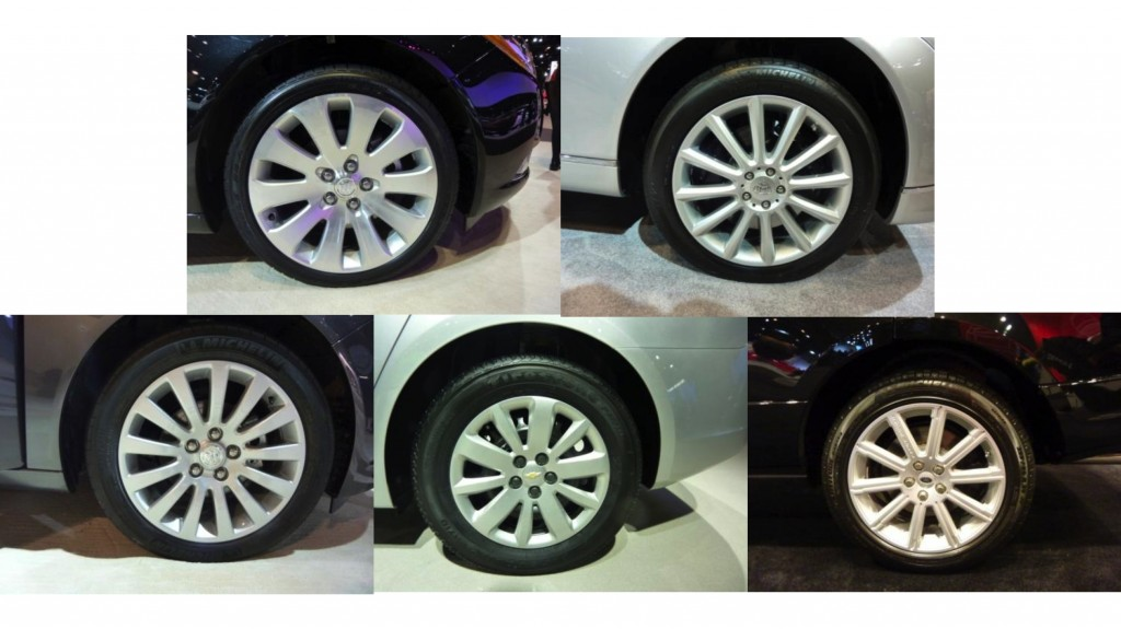 Wheel rims with similar complexity.