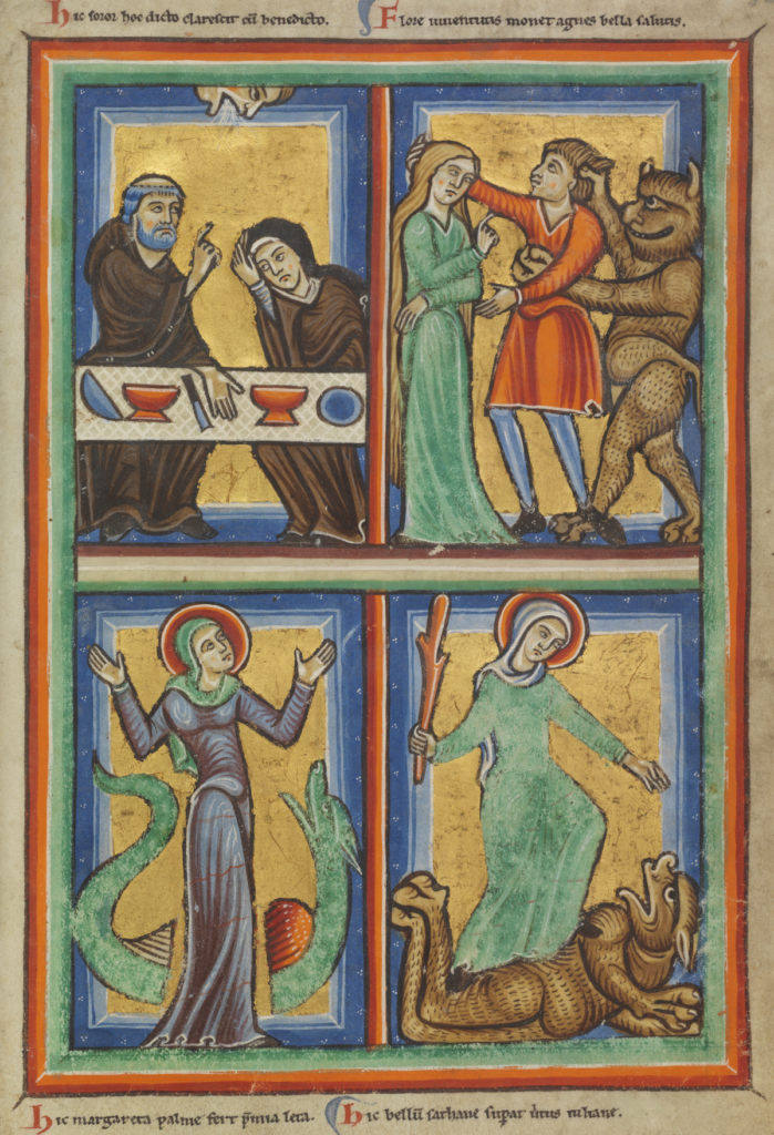This image has an empty alt attribute; its file name is Fahey-St.-Juliana-overcomes-a-demon-from-a-22Jerusalem-Psalter22-The-Hague-KB-76-F-5-f.-32-ca.-1190-1200.-699x1024-1.png