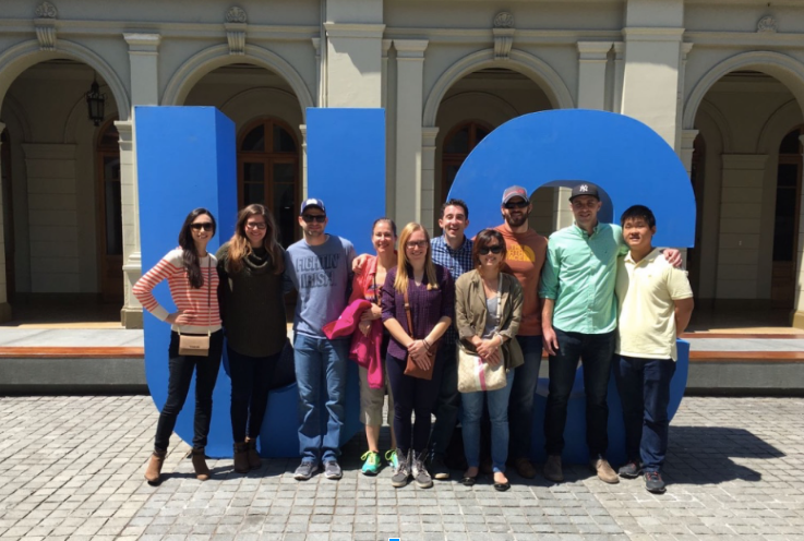 Notre Dame MBAs in Chile, 2017 (photo courtesy Steve L'Heureux)