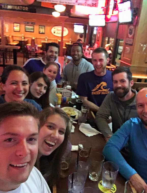 9.5 Notre Dame MBA students enjoying a round at Brother's. (Photo courtesy Dara Chesnutt)