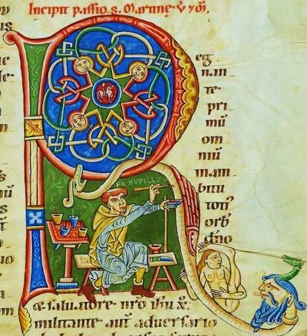 Weissenau Passionary, Cologny, Cod. Bodmer 127, 244r.