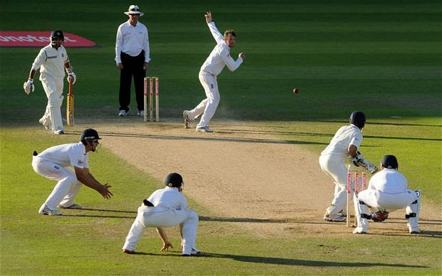 Cricket is often called a gentlemen's sport. At least this picture makes you feel that's true.