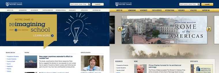 ND.edu side-by-side preview