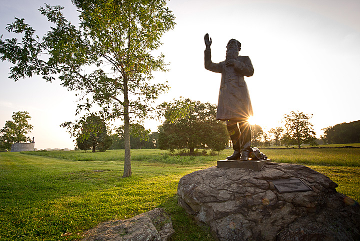 Statue of Rev. William Corby, C.S.C. at the Gettysburg National Military Park.