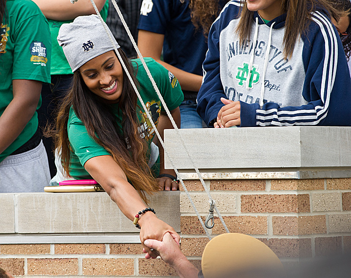 The WNBA's Skylar Diggins returned to campus to watch the game.