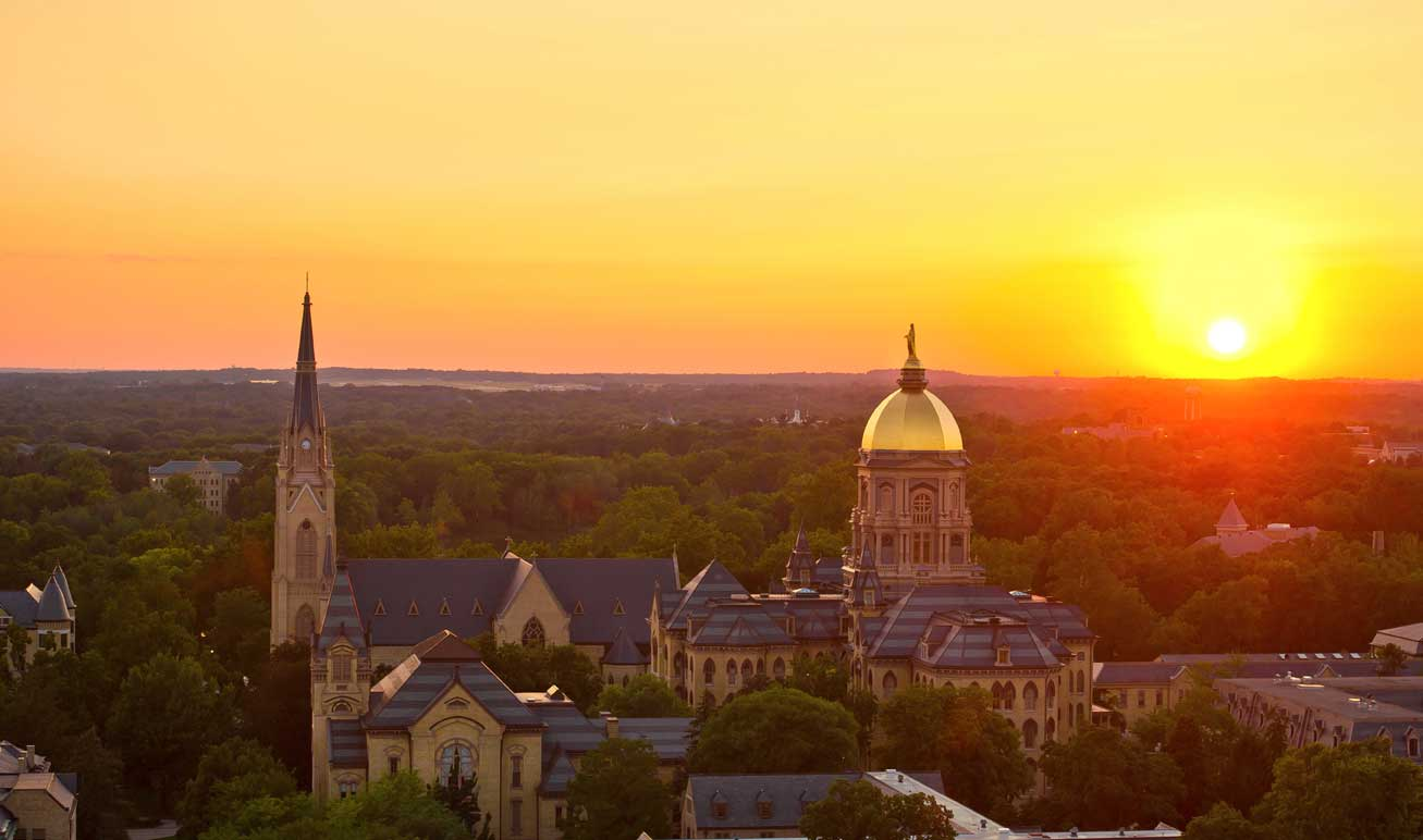 Aug. 16, 2013; Sunset over campus...Photo by Matt Cashore/University of Notre Dame