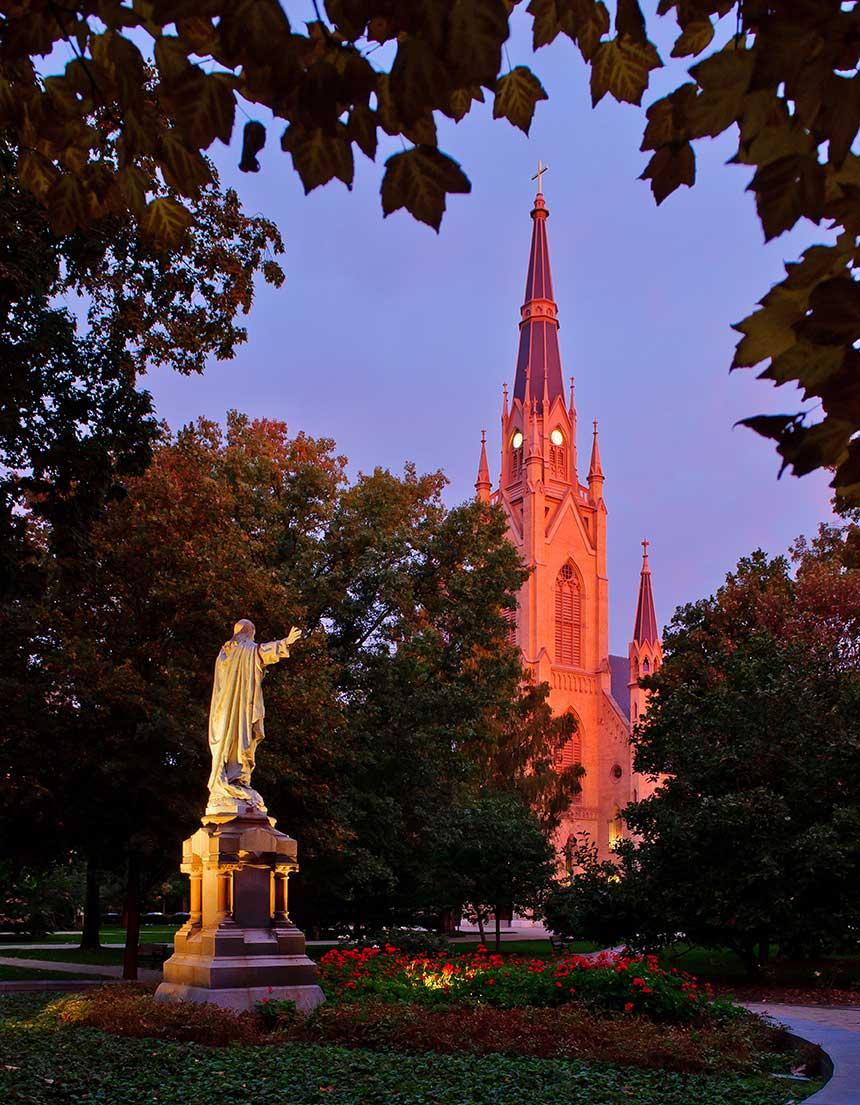 Oct. 15, 2013; Main Quad at dawn. Photo by Matt Cashore/University of Notre Dame