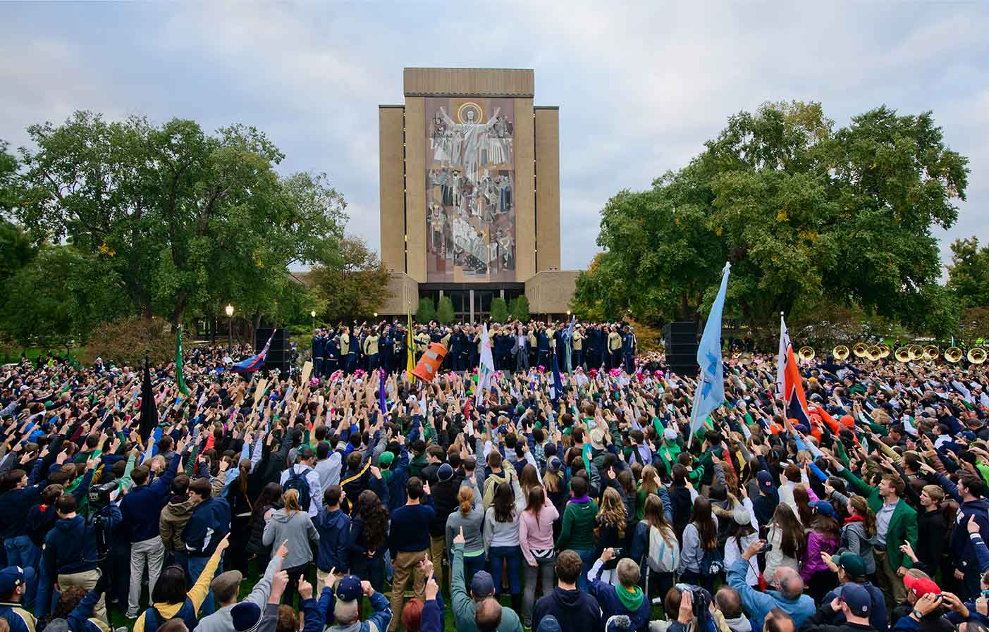 Oct. 18, 2013; Pep rally before the 2013 USC game. Photo by Matt Cashore/University of Notre Dame