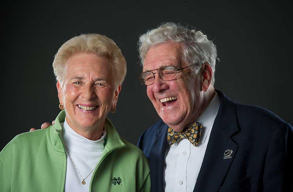 Nov. 1, 2013; Nan Tulchinsky & Chuck Webber - Strong of Heart. Photo by Barbara Johnston/University of Notre Dame