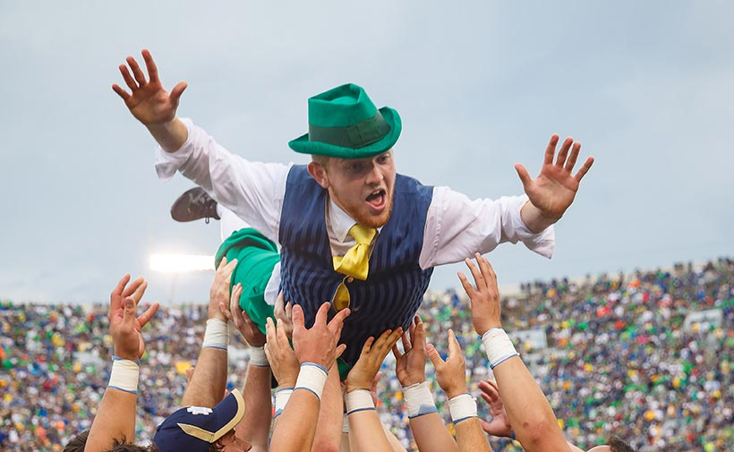 The Leprechaun celebrates. Photo by Peter Ringenberg