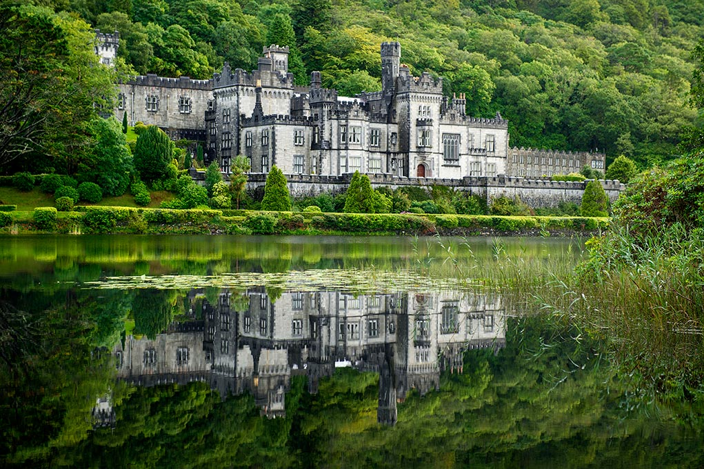 Aug 12, 2014; Kylemore Abbey and Victorian Walled Gardens in Connemara, County Galway, Ireland. 82 Notre Dame students participated in the Summer 2014 Ireland Inside Track program. The 8-day program involved cultural excursions, tours and travel between Dublin and the West of Ireland. Students learned about Ireland's rich culture, complex history and contemporary business such and Google and Twitter. (Photo by Barbara Johnston/University of Notre Dame)