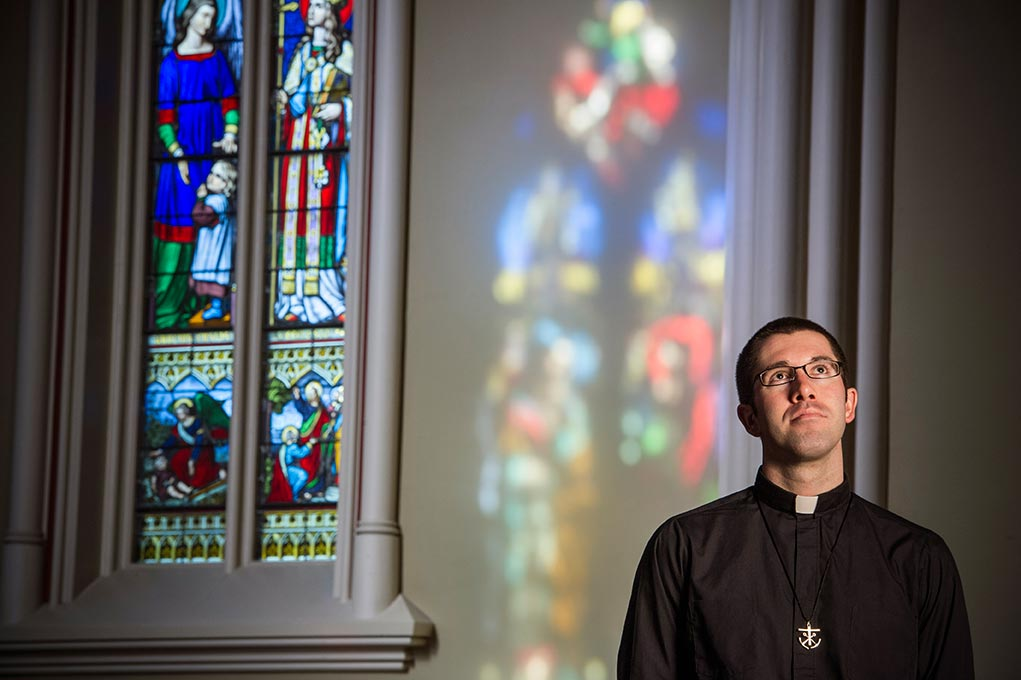 Dec. 3, 2014; Rev. Patrick Reidy, C.S.C.- Alumni. (Photo by Barbara Johnston/University of Notre Dame)