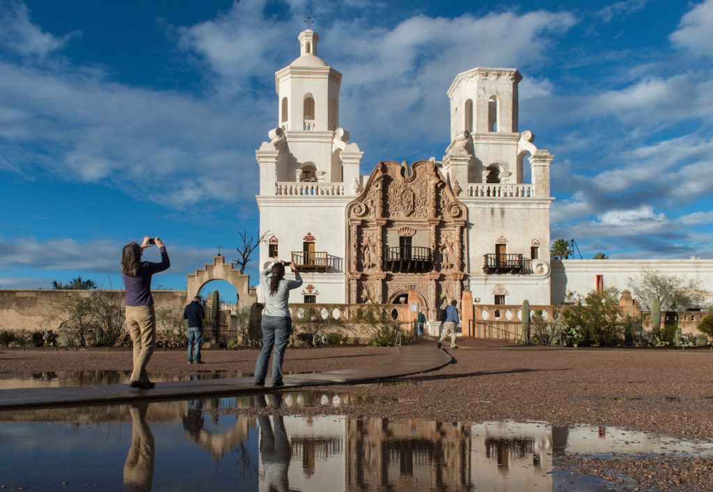 Jan. 4, 2016; San Xavier Mission in Tucson, AZ.  (Photo by Barbara Johnston/University of Notre Dame)