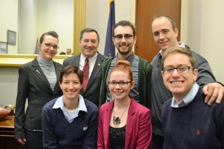 Back: Elaine, Sen. Donnelly, Joseph, David Front: Karen, Rose, Josh