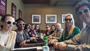 The MSPL shading the San Francisco sun in their new sunglasses after visiting law firms during the day