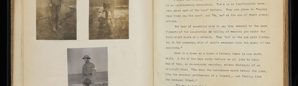 Recent Acquisition: World War I Scrapbooks of U.S. Army Officer from Bloomington, Indiana