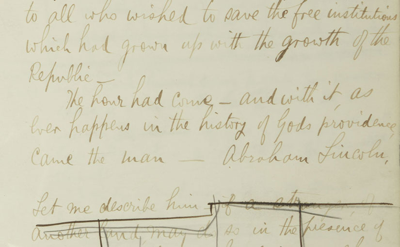 Bram Stoker's Manuscript of His Lecture on Abraham Lincoln